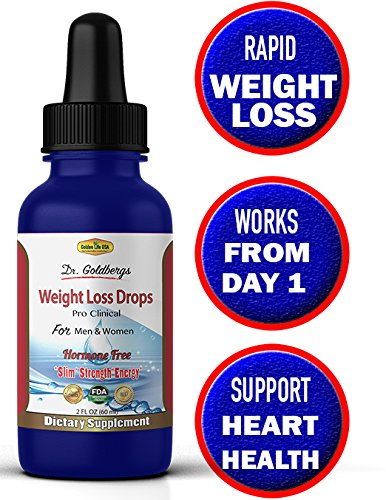 Dr. Goldbergs Thermogenic Weight Loss Drops Supplement For Women & Men, RAPID FAT BURNING & IMMEDIATE STOMACH SHRINKAGE! Best Shape Reclaimed & Energy Drops Formula, #1 Appetite Control diet product!