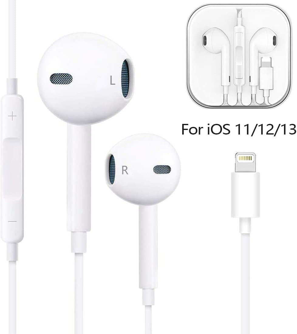 Compatible With Iphone 11 11pro Max Xs Max Xr X 8 Plus 7 And Ios 10 11 12 White Muxitek Earphones Headphone With Microphone And Volume Control