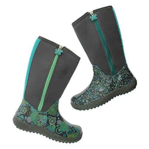 Chooze Stomp Boot Kids (13 M (Kids), Swirl Grey)