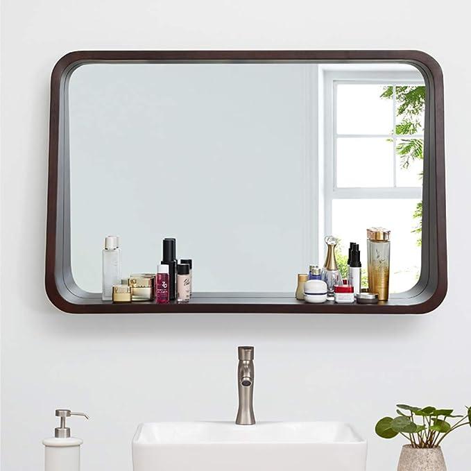 Espejo de Pared Empotrado con Estante, Espejos de tocador de ...