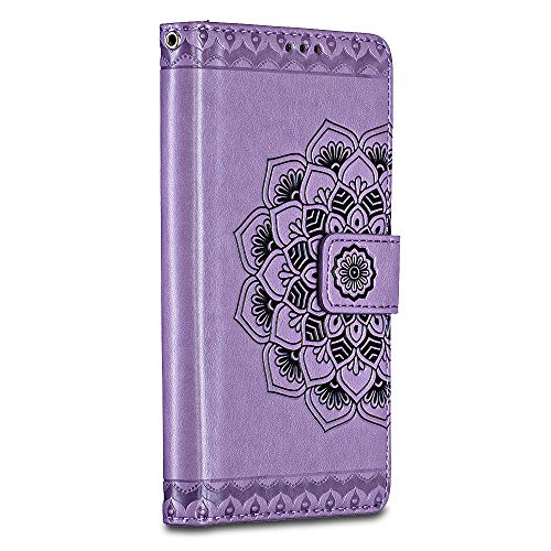 Galaxy Note 9 Case, Casake Galaxy Note 9 Wallet Leather Case,[Art] Soft Tactile Elegant Case Cover with Embedded Magnetic Closure for Galaxy Note 9- Purple