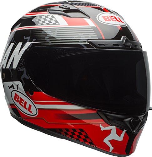 Bell Qualifier DLX Full-Face Motorcycle Helmet (Isle Of Man Black/Red, XX-Large) (Bell Motor Cycle Helmet)