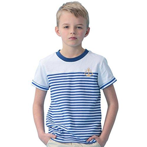 Leo&Lily Boys Kids Short Sleeves Casual Sports Cotton Stripy Crew T Shirt