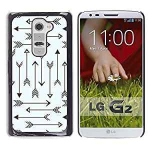 Planetar® ( Tribal Archery Love Pattern Minimalist ) LG G2 / D800 D801 D802 D803 VS980 LS980 Fundas Cover Cubre Hard Case Cover