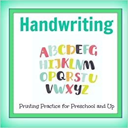 handwriting printing practice preschool and up letters numbers and more cute abc books kindergarten prep tracing letters tracing numbers volume 86