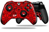 xbox 369 controller cover - Skull Patch Pattern Red - Decal Style Skin fits Microsoft XBOX One ELITE Wireless Controller