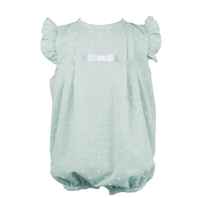 ALBER - Pelele PLUMETI bebé-niños Color: Verde Talla: 1