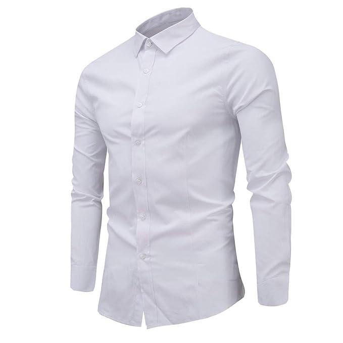 Bestow Camisa de Manga Larga para Hombre Camisa de Manga Larga Casual Camisas de Invierno para