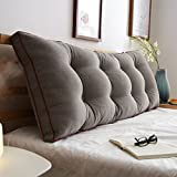 Headboard Cushion Cotton Soft Bag Reading Backrest BedHead Pillow Support Bedside Cushion Size Optional (Size : 602050cm)