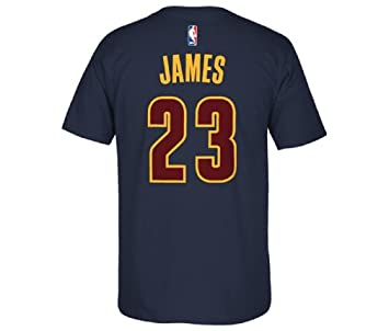 Adidas Lebron James Cleveland Cavaliers # 23 NBA Juventud Reproductor de Climalite Camiseta Jersey Azul Marino
