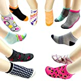 (20 Pairs) Bulk Case of Wholesale Women's Low Cut Ankle Socks, Size 9-11 (12 Colorful Novelty Styles)