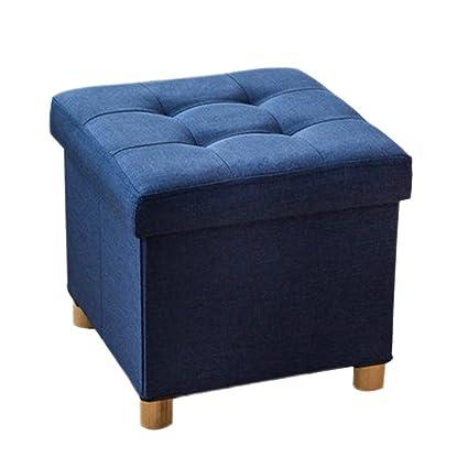 Amazoncom HMDX Folding Storage OttomanCube Collapsible Footstool - Cube coffee table with 4 storage ottomans