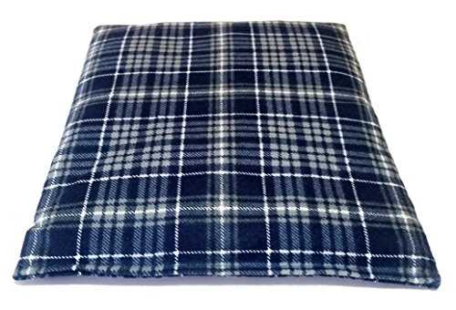 Microwavable Corn Filled Heat Bag - Warming Solution for Joint Pain, Aches, Pains, Cramps, and Arthritis (Plaid Blue) (Corn Heater compare prices)