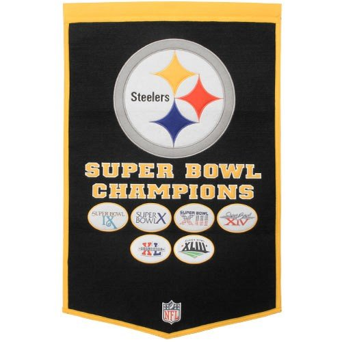 Pennant Throwback Pittsburgh Steelers (Pittsburgh Steelers Super Bowl XLIII Champions Commemorative Dynasty Banner)