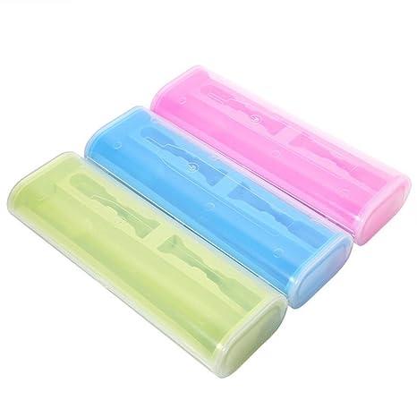 MYQyiyi portátil caja de viaje de Cepillo de dientes eléctrico,ligero y conveniente (Azul
