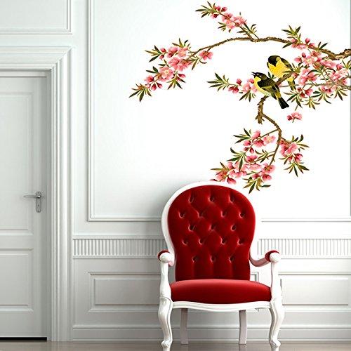Soledi® DIY Wall Decal Peach Blossom Tree Branches Love Bir