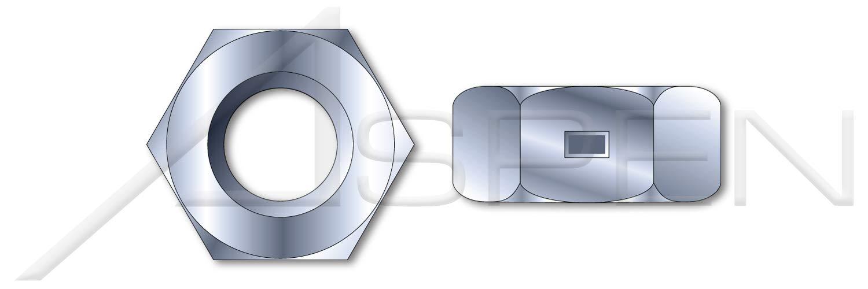 Finished Nut Pattern Zinc Plated 2-Way Reversible Lock Nuts 2000 pcs 1//4-20 Steel
