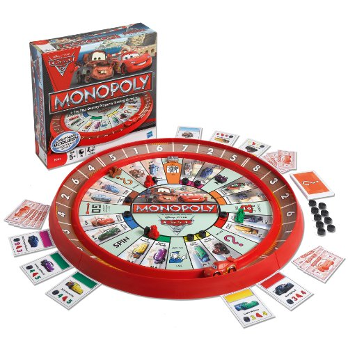 Monopoly Cars 2 Race Track Game (Cars 2 Board Games)