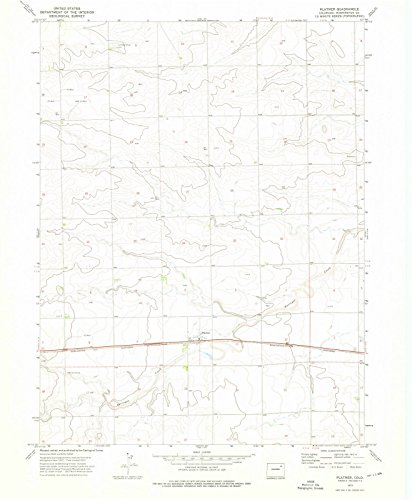Colorado Maps | 1973 Platner, CO USGS Historical Topographic Map | 18in...