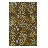 Oh! Home Trio Collection Chocolate & Spa Blue Rug (5' x 7')