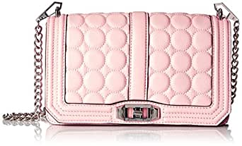 Rebecca Minkoff Love with Circle Quilt Cross Body, Blush, One Size