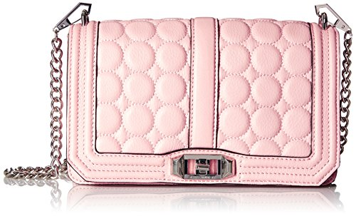 Rebecca Minkoff Love Circle Quilt Cross-Body Bag - Blush ...