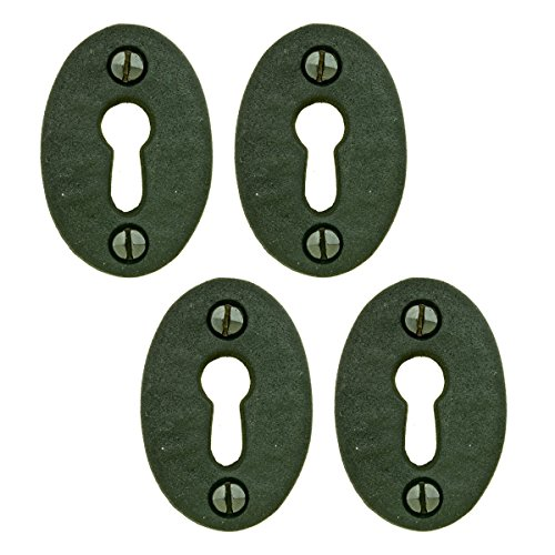 Black Iron Keyhole Cover Escutcheon Replacement 1-3/4
