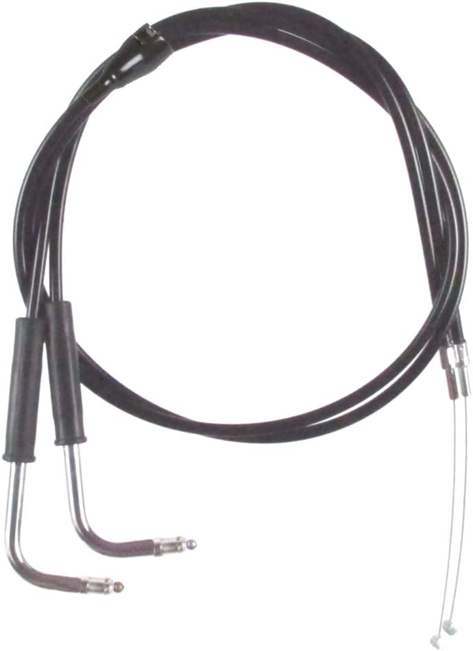 10 Throttle Cable set for 1998-2001 Harley-Davidson Road Glide models with Cruise Black Vinyl Coated HC-0342-0185-RGA