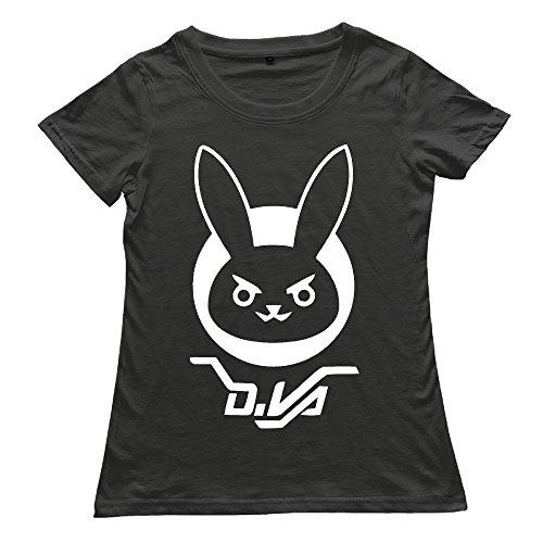 Overwatch Women's D.VA BUNNY Cool - T-shirt Black S -