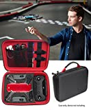 Image of CaseSack Designed Travel Case for DJI Spark Mini Quadcopter Drone, Slots for Remote Control, 2 batteries and propellers, Pockets for USB, Cable, Micro SD Cards and other accessories(Black + Red)