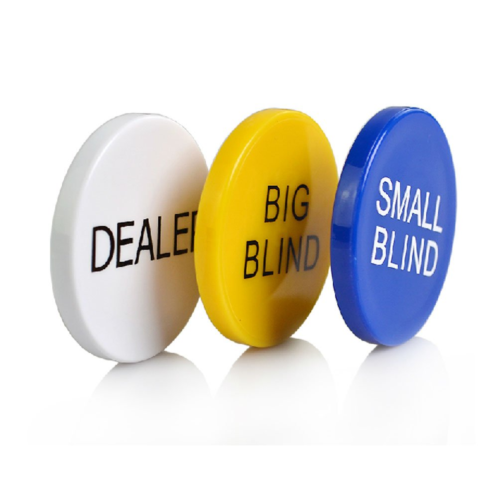 SmartDealsPro-Set di 3 piccole Blind Big Blind, bottoni e Dealer di Poker SDD530116