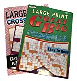 Large Print Crosswords Puzzle Book Bundle of 2