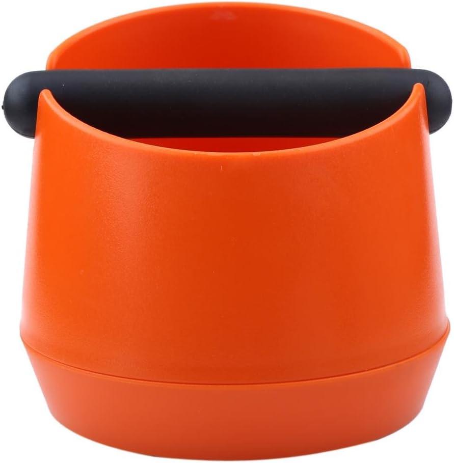 ecc Secchio di residuo del caff/è in plastica Bidone per rifiuti Con Rubber Bar Adatto per casa caff/è arancia Deep Bend Design Tosuny Scatola della macchina del caff/è ristoranti