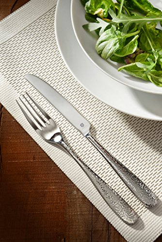 DANIALLI 30-Piece Flatware Set For 6, Modern Hammered Design Silverware Set, 18 10 Stainless Steel Utensils, Include Knife/Fork/Spoon, Mirror Polished Set of Cutlery, Dishwasher Safe by DANIALLI (Image #1)