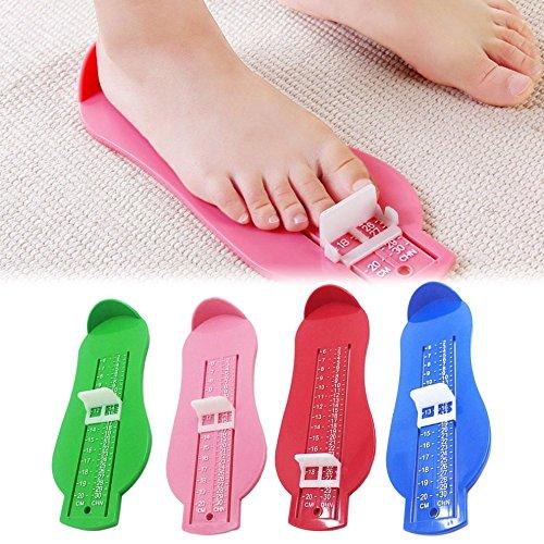 RoadRoma Strumento per la misurazione del Piede per Bambini Scarpe per Bambini Strumento per misurare Il Livello del Bambino Righello-Blu