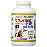 NWC Naturals Total-Zymes Plus - 100 Tablets (1 tablet treats 1 cup of pet food) Enzymes and Probiotics for larger Dogs and Cats