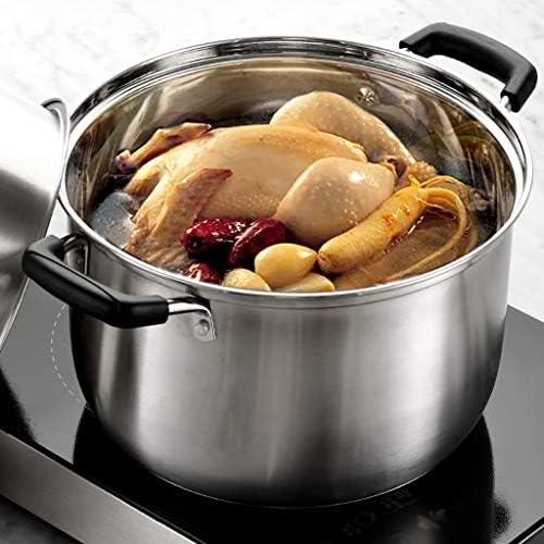 Marmites Acier inoxydable avec couche étuvé marmite à soupe épaissie à vapeur Ménage Cocotte Poêle au gaz for 4-6 personnes Les marmites