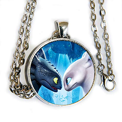 How to train your dragon inspired photo pendant necklace - HM