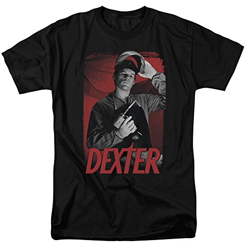 Dexter Dark T-shirt - Trevco Men's Dexter Short Sleeve T-Shirt, Black, Medium