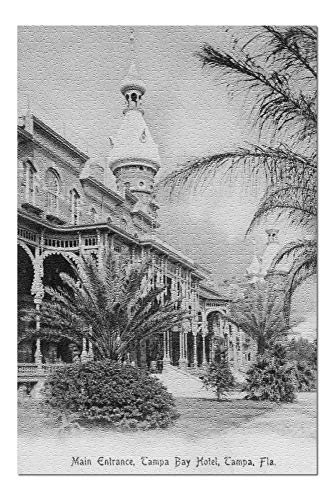 Tampa, Florida - Tampa Bay Hotel Main Entrance View (20x30 Premium 1000 Piece Jigsaw Puzzle, Made in ()