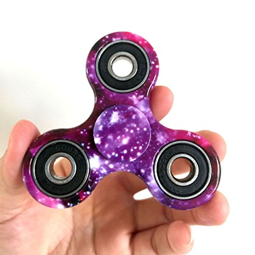 Acmys Tri-Spinner Fidget Toy Premium Quality 2-4 Minutes Spin! The 360 Spinner Helps Focusing [3D Figit], Hand Spinner Toy Stress Reducer EDC Focus Toy For Kid & Adults, Great Gift (Purple (How Long Is A Light Year)