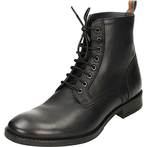 FRANK WRIGHT Men's Birch Men's Coal-black Leather Boots In Size 12 US (11 UK/45 EU) Black