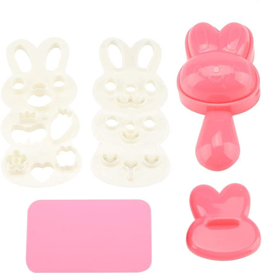 DIY Bunny Shape Food-grade PP Material Creative Shape Sushi Rice Roll Bento Mold Handicraft Rice Roll Mold