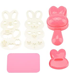 DIY Bunny Shape Food-grade PP Material Creative Shape Sushi Rice Roll Bento Mold Handicraft Rice Roll Mold