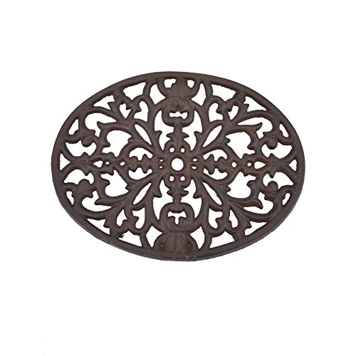 Creative Co-op DA2594 Cast Iron Trivet, Black, Black