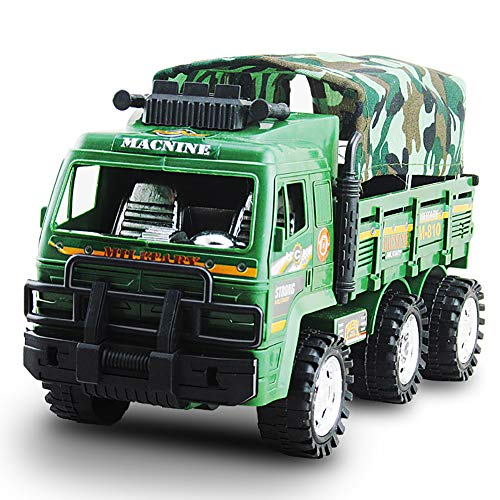 Teydhao Children Kids Die-Cast Vehicles Boys Educational Simulation Military Truck Car Vehicle Model Toy Transport Car Carrier Truck Toy for Kids That Love Trucks Ideal Gift for Boys and Girls