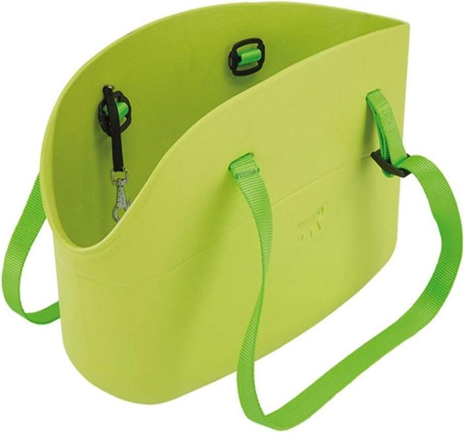 ペットバッグ ペットのアウトバッグ犬バッグ猫リュック対角線バッグソフト猫と犬ショルダーバッグペットトラベルショルダーバッグ ペットの出し入れがしやすい (色 : 緑, Size : S)