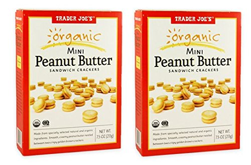 Trader Joe's Mini Peanut Butter Sandwhich Crackers 7.5 oz (Pack 0f 2)