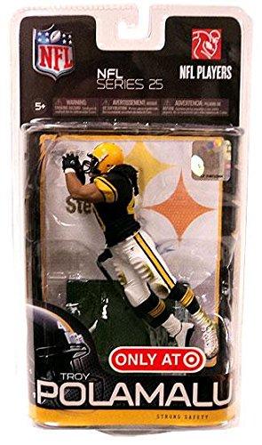 McFarlane Toys NFL Sports Picks Series 25 Exclusive Action Figure Troy Polamalu (Pittsburgh Steelers) Black Jersey Retro Uniform