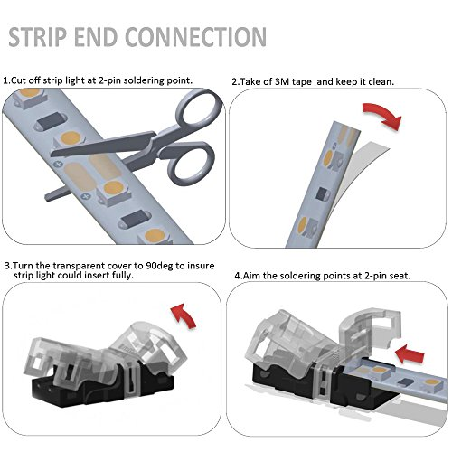 Buy led light connectors 2 pin waterproof